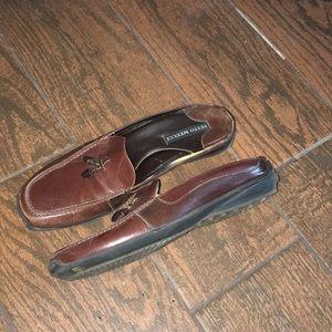 Sesto Meucci leather mule loafers